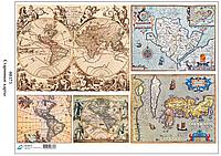 08375 Декупажная карта Старинные карты