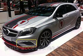 Хромовые накладки на передний бампер Mercedes A A-Class W176 2012-17 Новые Оригинальные