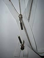Молния металлическая разъемная 76см, 2 бегунка, фото 1