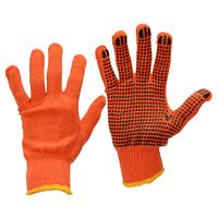 Перчатки  оранжевые ХБ 12пар/уп
