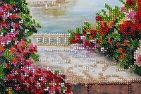 Набор для вышивания бисером на художественном холсте Летний сад