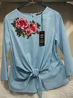 """Блуза женская полубатал (хлопок) розы Розница """"Assorti"""" R-4473"""