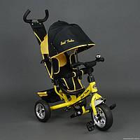 Детский трёхколёсный велосипед Best Trike, желтый