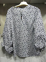 """Блуза женская полубатал (штапель) цветы Розница """"Assorti"""" R-4473"""