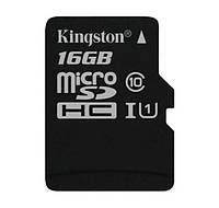 Карта памяти 16 Gb microSD Kingston UHS-I G2 (Premium) SDC10G2/16GBSP (без адаптера).