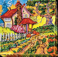 Набор для вышивания бисером на художественном холсте Сказочная осень