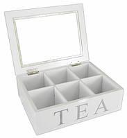 """Деревянная шкатулка для чая """"Классика"""". Подарки в стиле Прованс"""