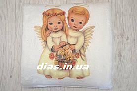 Крыжма с изображением ангелочков