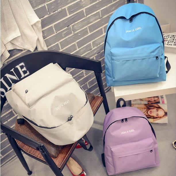 Городской рюкзак стильный однотонный
