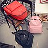 Городской рюкзак стильный однотонный, фото 6