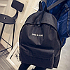 Городской рюкзак стильный однотонный, фото 8