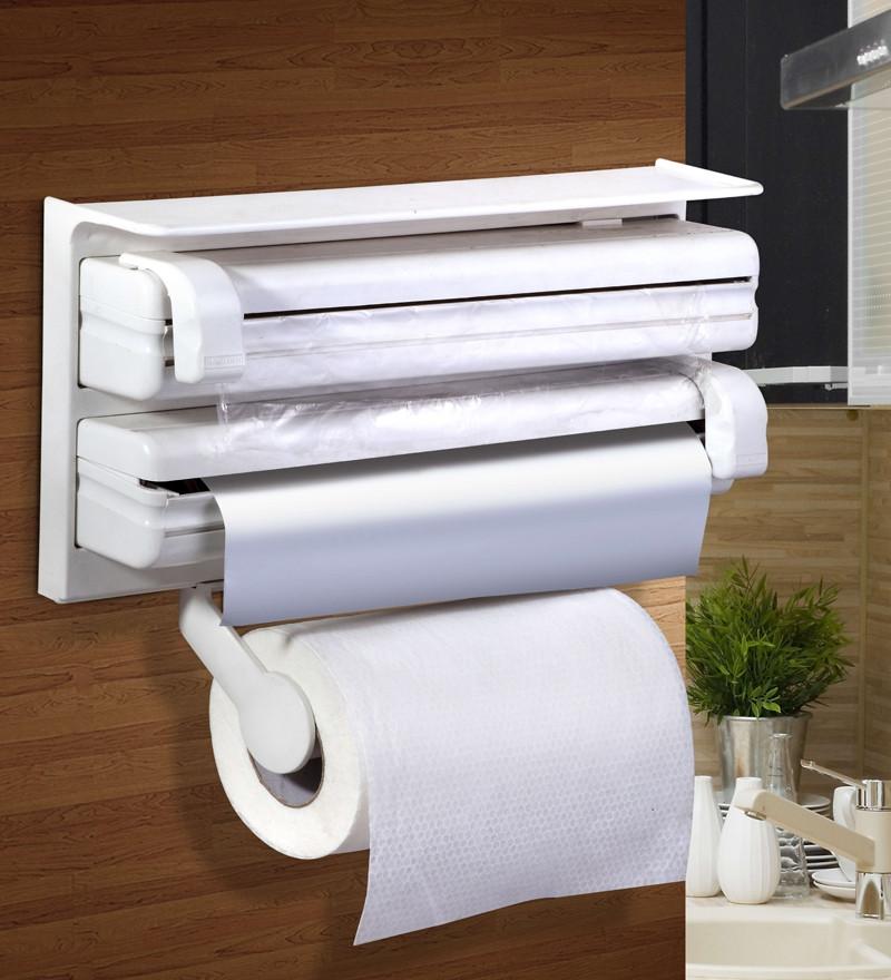 Кухонний диспенсер для плівки, фольги і рушників Kitchen Roll Triple Paper Dispenser - фото 2