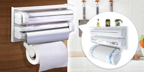 Кухонний диспенсер для плівки, фольги і рушників Kitchen Roll Triple Paper Dispenser - фото 6