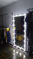 Зеркало с подсветкой для магазинов 870х1740 мм.