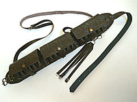 Патронташ кожаный закрытый двухрядный на 36патр.(12,16к), фото 1