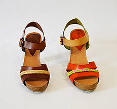 Коричневые кожаные босоножки Pilar Monet , фото 3