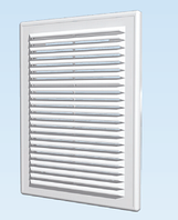 Решётка вентиляционная разъёмная с сеткой АБС 150х150, белая