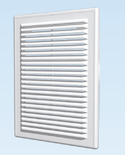 Решётка вентиляционная разъёмная с сеткой АБС 249х249, белая