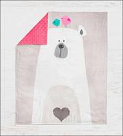 """Панелька преміум хлопок """"Білий ведмідь"""" 100*75"""