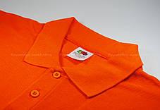 Мужское Поло Премиум Fruit of the loom Оранжевое 63-218-44 S, фото 2