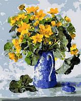 Картина-раскраска Mariposa Букет в синем кофейнике Худ Коттерил Анне (MR-Q1019) 40 х 50 см