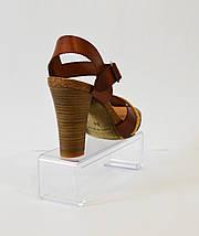 Коричневые кожаные босоножки Pilar Monet , фото 2