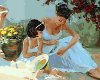 Картина по номерам Mariposa Вышивальщицы Худ Волегов Владимир (MR-Q1238) 40 х 50 см