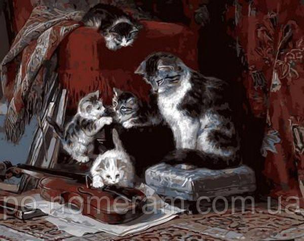 Рисование по номерам Mariposa Котята и скрипка худ Генриетта Роннер-Книпп (MR-Q608) 40 х 50 см - Картины по номерам, раскраски по цифрам в Киеве