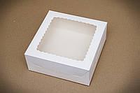 Коробка 250*250*100 Чізкейк, 9 кексів з вікном з плоского картону