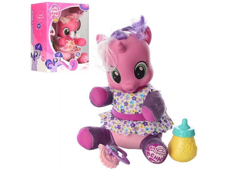 Лошадка My little pony 21см, мягконабивная, звук, свет, аксессуары, 66229