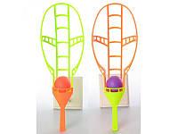 Игра детская Ловушка, ракетка 2шт, 46,5см, шарик 2шт, 6см, пластик, M3322