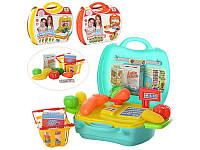 Магазин детский от 22дет, 3 вида (продукты, посуда), в чемодане, MJX8015-7016-6015