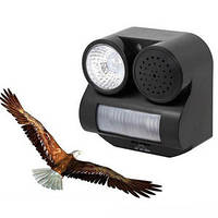 Отпугиватель птиц OD 12: 4хАА, датчик движения с обзором 30°, звук хищника/свет, 125х126х73 мм
