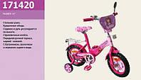 Детский двухколесный велосипед 14'' Розовый (171420) с зеркалом