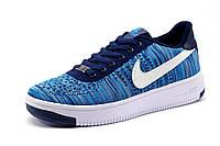 Кроссовки синие Найк Air Force, мужские, текстиль, р. 41 42 43 44 45