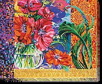 Набор для вышивания бисером на художественном холсте Анемоны