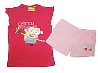 Комплект-двойка для девочки, Minions, размеры 4,5,5,6,6,7,7,10 лет, арт. 831-844