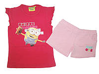 Комплект-двойка для девочки, Minions, размеры 4,5,5,6,6,7,7,10 лет, арт. 831-844, фото 1