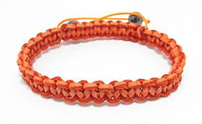 Набор. Браслеты из кожи. Синий и оранжевый. Шамбала, фото 2