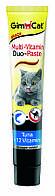Паста мультивитаминная Gimcat Multi-Vitamin Duo Paste Tuna & Vitamins для кошек с тунцом, 50 г, фото 1