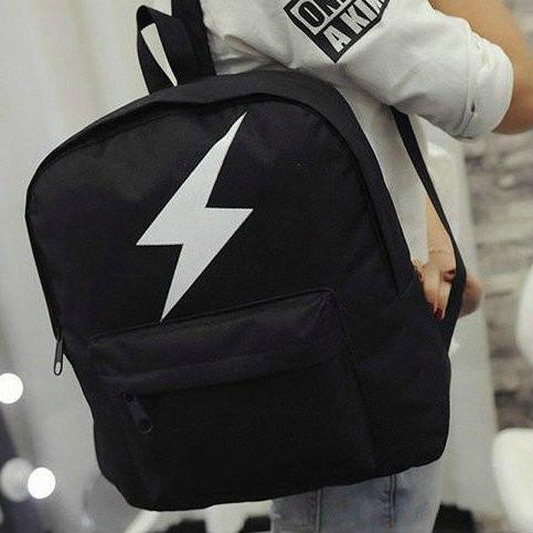 Модный черный рюкзак с молнией