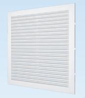 Решётка вентиляционная с сеткой АБС 138х138, белая