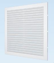 Решітка вентиляційна з сіткою АБС 138х138, біла