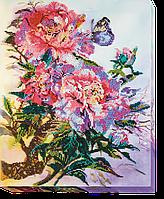 Набор для вышивания бисером на художественном холсте Китайские пионы