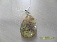 Кулон из  натурального камня кружевной  агат