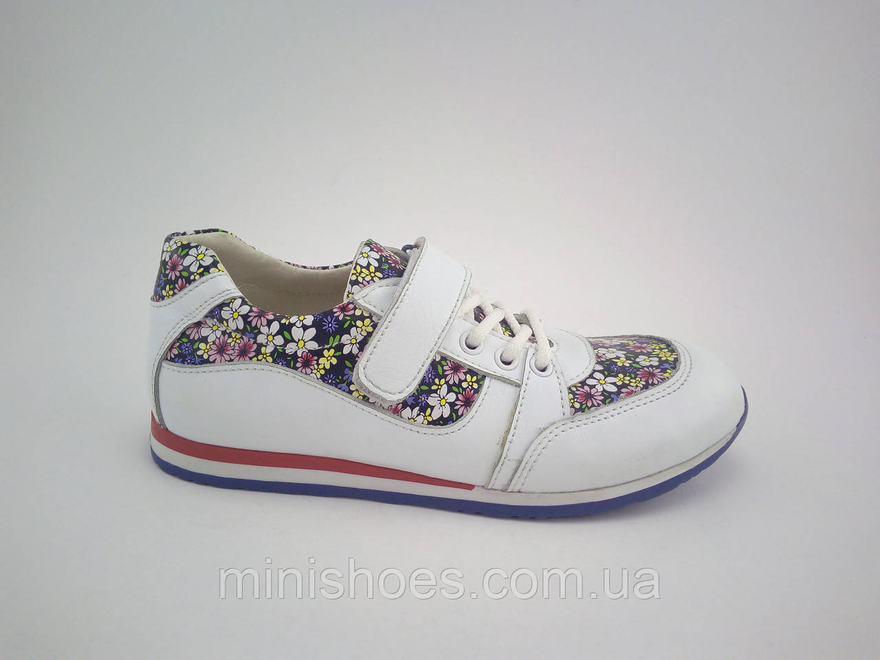 377063a3 Детские кроссовки кожаные в цветочек для девочки 32 размера - Интернет-магазин  детской обуви