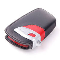 Оригінальний шкіряний футляр для ключа BMW Key Holder Fob Leather Case Cover Sport Line Red (82292219909)