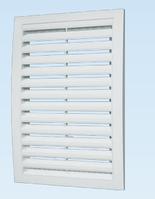 Решётка вентиляционная декоративная сферическая вытяжная АБС 200х200 , белая