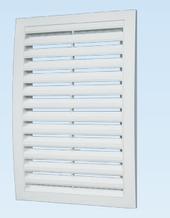 Решітка вентиляційна декоративна сферична витяжна АБС 200х200 , біла