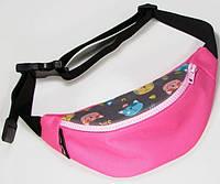 Розовая поясная сумка TwinsStore с котами, БД46